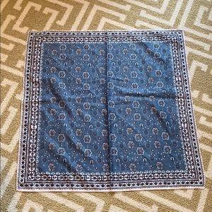 Madewell blue bandana scarf